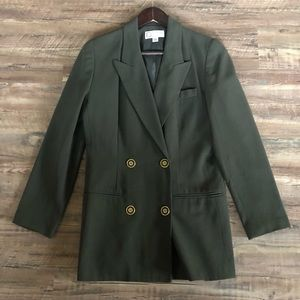 Vintage Forest Green Blazer